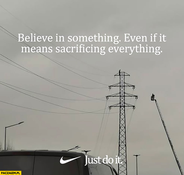 Samobójca we Wrocławiu Nike just do it