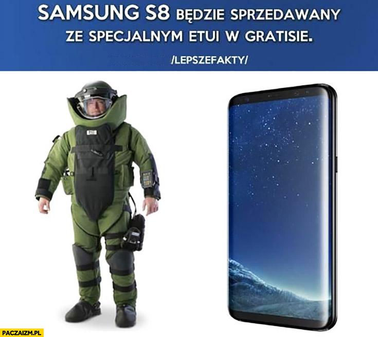 Samsung S8 będzie sprzedawany ze specjalnym etui w gratisie strój sapera przeciw wybuchowy