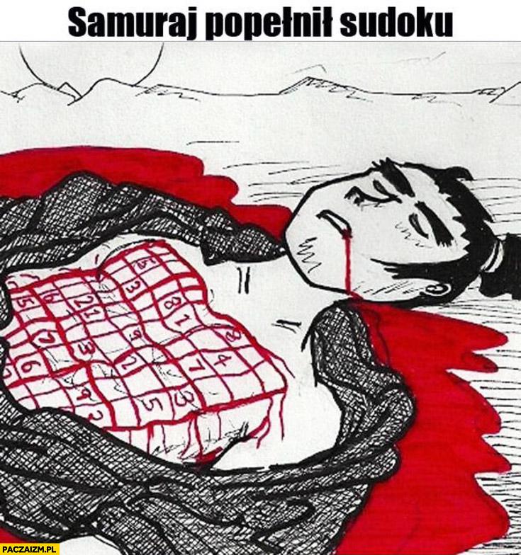 Samuraj popełnił sudoku splamił honor rodziny