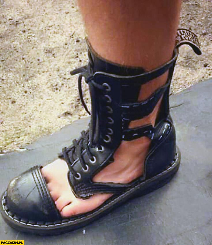 Sandały glany glandały