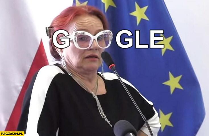 Sanepid Słubice okulary napis google