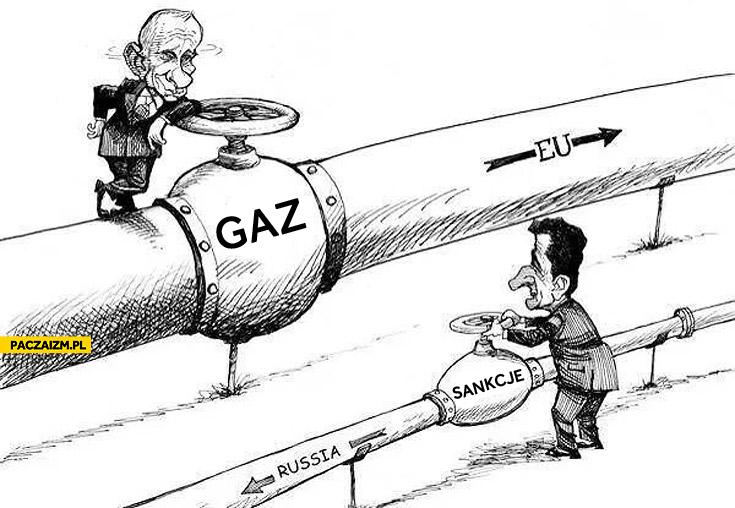 Sankcje Unii Europejskiej gaz Putin