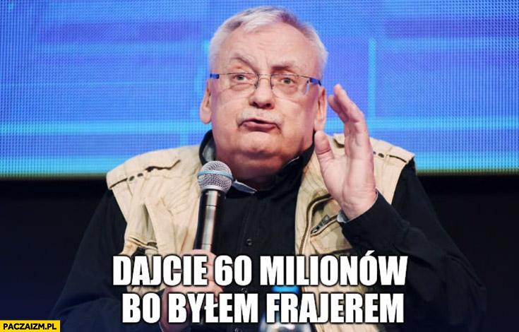 Sapkowski dajcie mi 60 milionów bo byłem frajerem