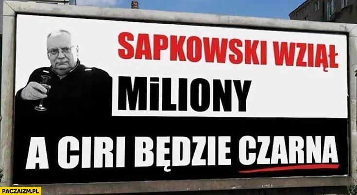 Sapkowski wziął miliony a Ciri będzie czarna reklama billboard PiS przeróbka