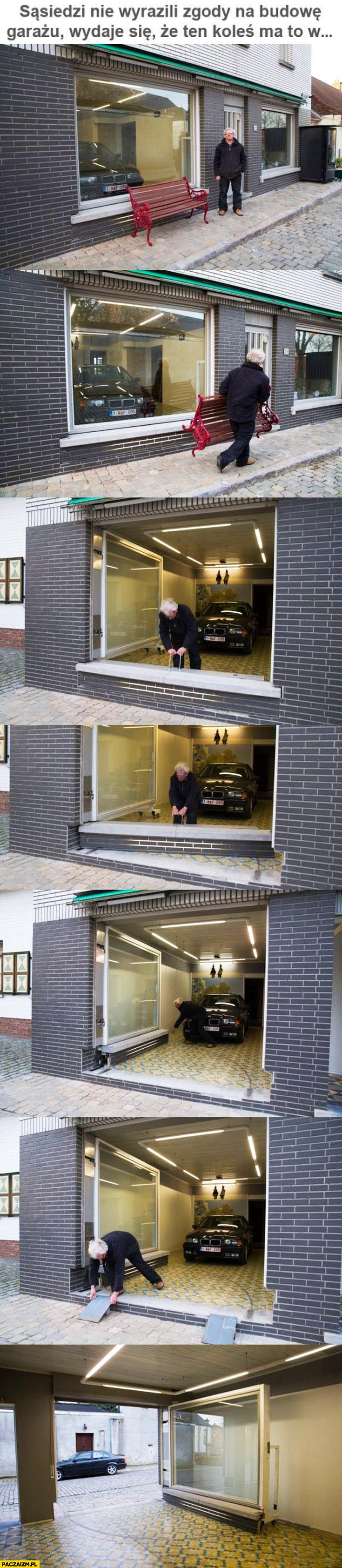 Sąsiedzi nie wyrazili zgody na budowę garażu koleś ma to gdzieś BMW parkuje w mieszkaniu