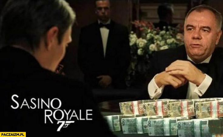 Sasino Royale 70 milionów Jacek Sasin James Bond Casino Royale przeróbka