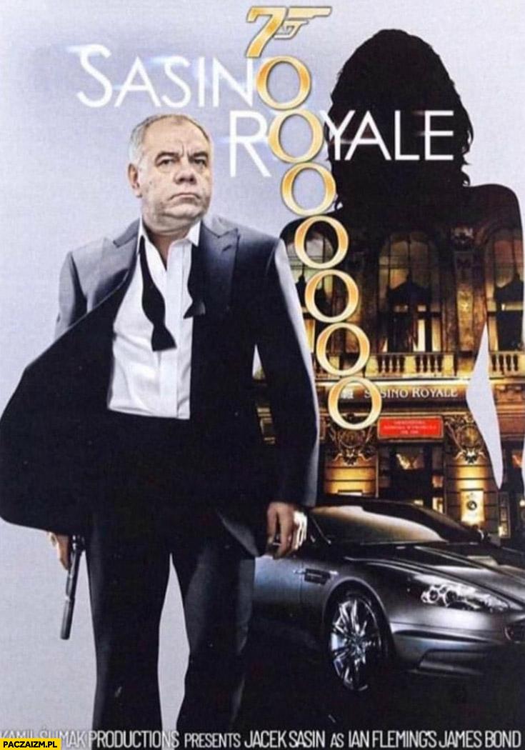 Sasino Royale 70 milionów James Bond plakat filmowy przeróbka Casino Royale
