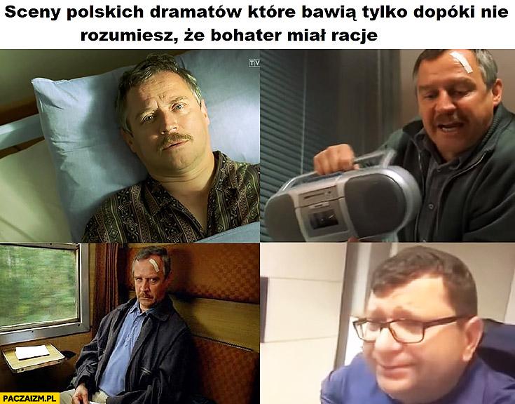 Sceny z polskich dramatów które bawią dopóki nie zrozumiesz, że bohater miał rację dzień świra Zbigniew Stonoga