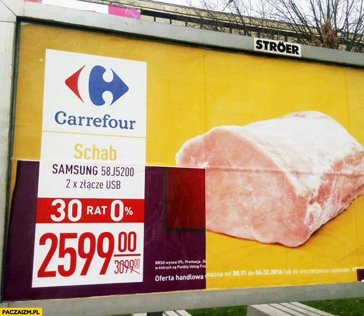 Schab Samsung reklama billboard Carrefour