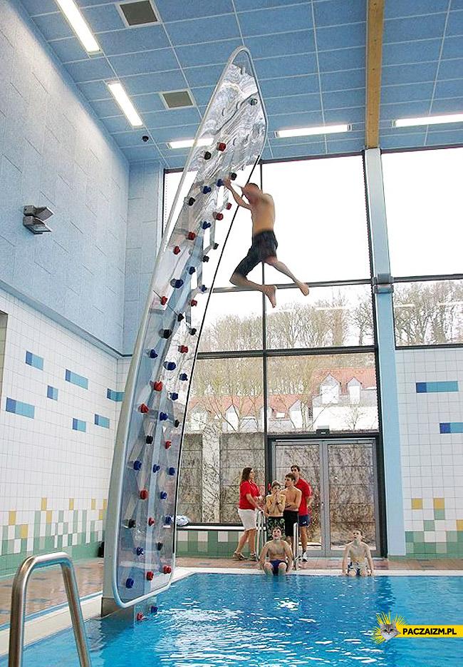 Ścianka wspinaczkowa na basenie