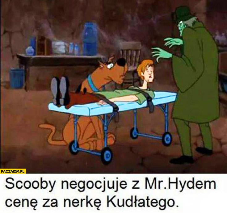 Scooby negocjuje z Mr Hydem cenę za nerkę Kudłatego