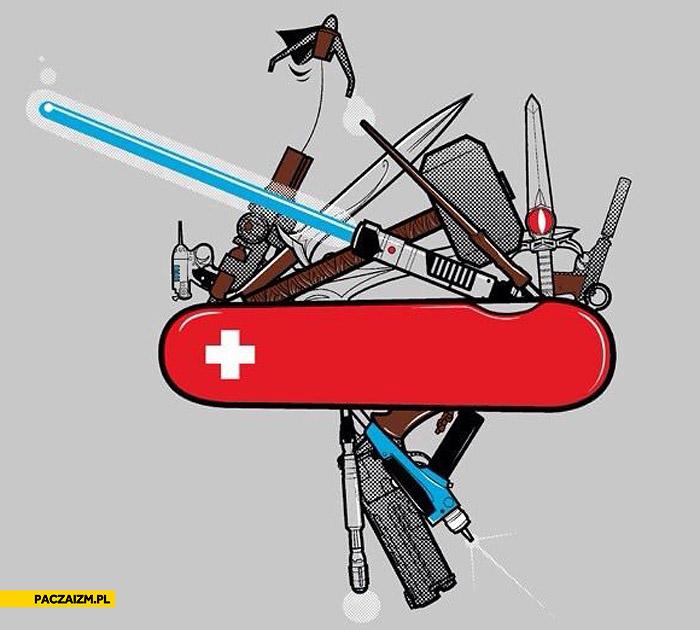 Scyzoryk Szwajcarski Miecz świetlny Broń Paczaizm Pl