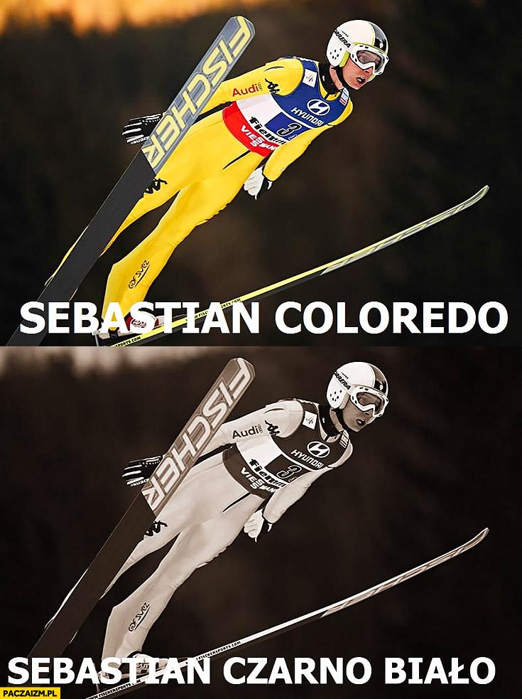 Sebastian Coloredo, Sebastian Czarno-Biało skoki narciarskie