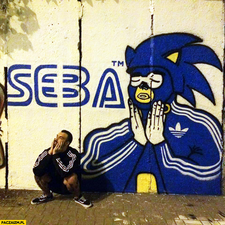 Sega Seba typowy Seba graffiti przeróbka