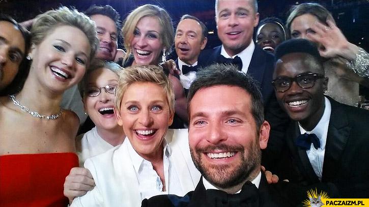 Selfie na rozdaniu oscarów gwiazdy