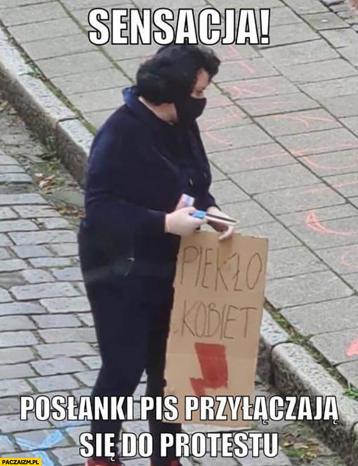 Sensacja posłanki PiS przyłączają się do protestu piekło kobiet