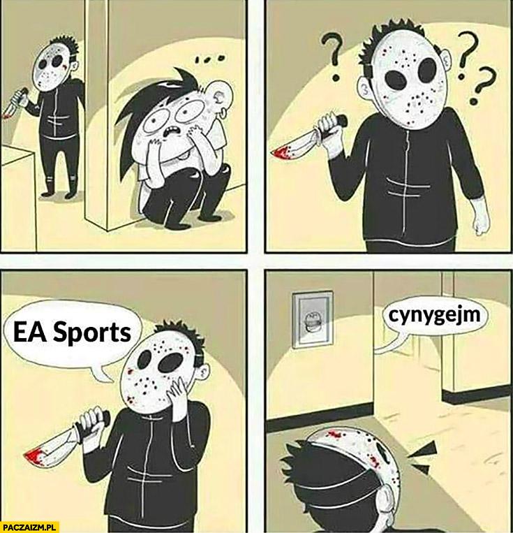 Seryjny morderca szuka ofiary EA Sports cynygejm komiks