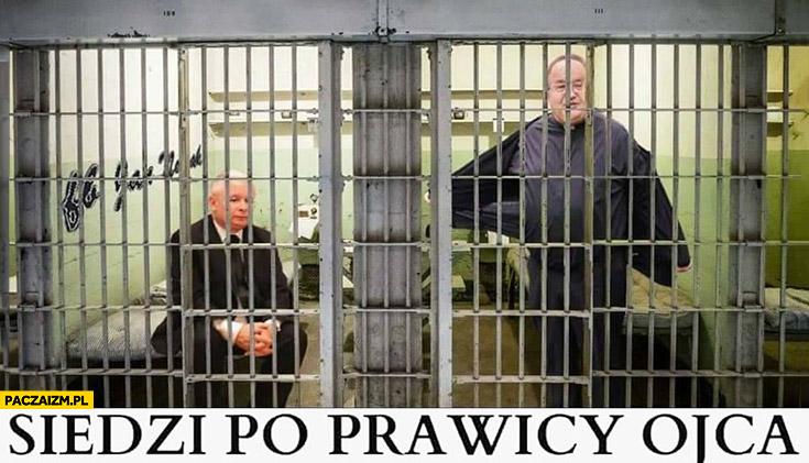 Siedzi po prawicy ojca Kaczyński w celi obok Rydzyka w więzieniu