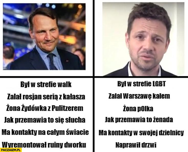 Sikorski Trzaskowski porównanie kandydaci na prezydenta PO Platforma