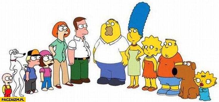 Simpsons family guy zamiana