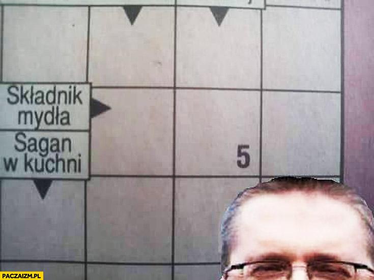 Składnik mydła na trzy litery krzyżówka Grzegorz Braun