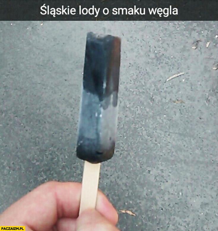 Śląskie lody o smaku węgla