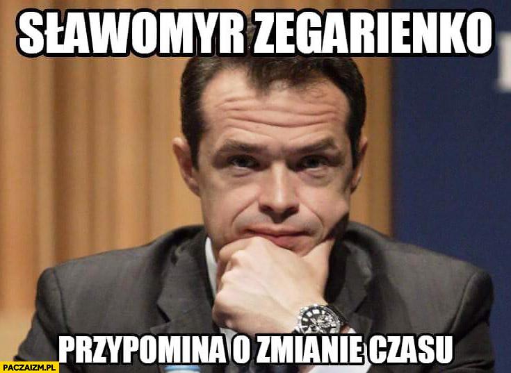 Sławomyr Zegarienko przypomina o zmianie czasu Nowak