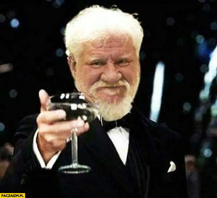 Slobodan Praljak toast przeróbka zdjęcia Leonardo DiCaprio