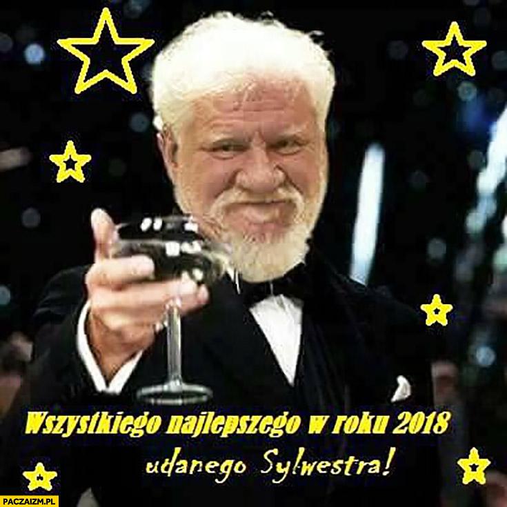 Slobodan Praljak wznosi toast wszystkiego najlepszego w roku 2018 udanego Sylwestra
