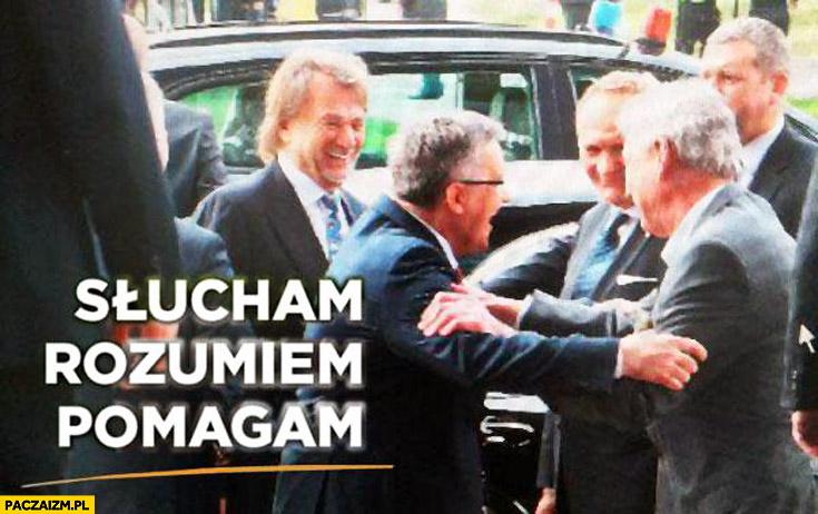 Słucham rozumiem pomagam plakat PO Kulczyk Komorowski