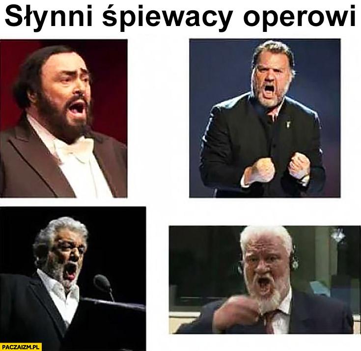 Słynni śpiewacy operowi Slobodan Praljak pije truciznę samobójstwo