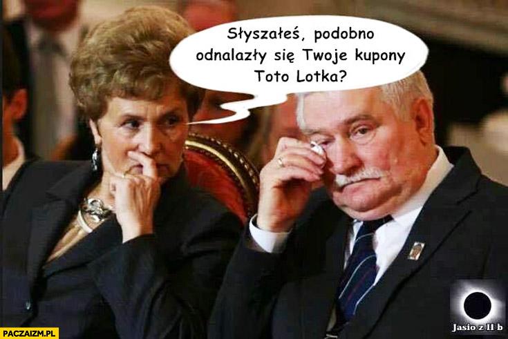 Słyszałeś podobno odnalazły się Twoje kupony totolotka Wałęsa TW Bolek