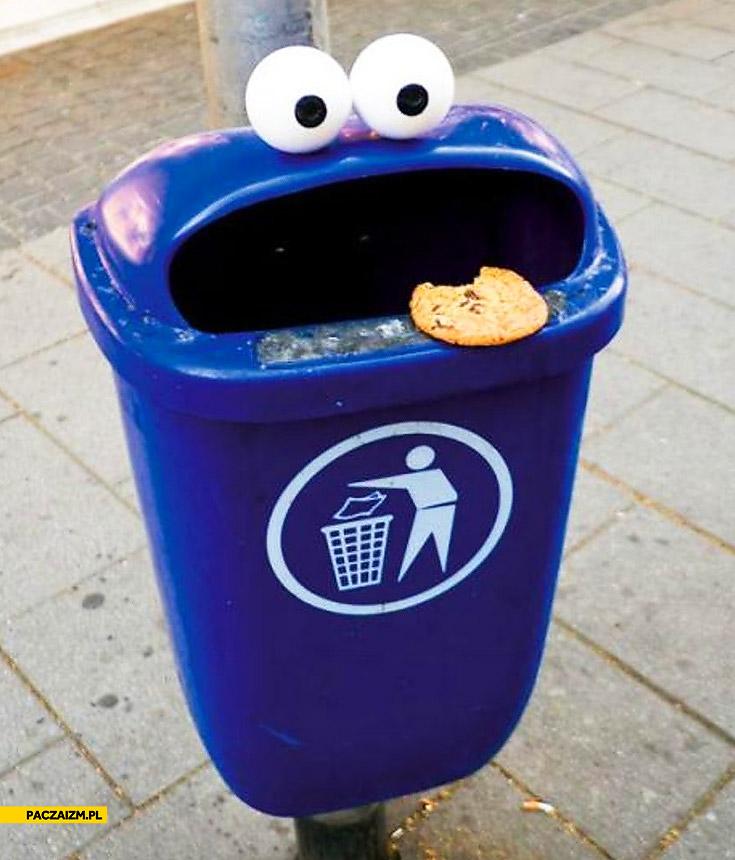 Śmietnik ciasteczkowy potwór
