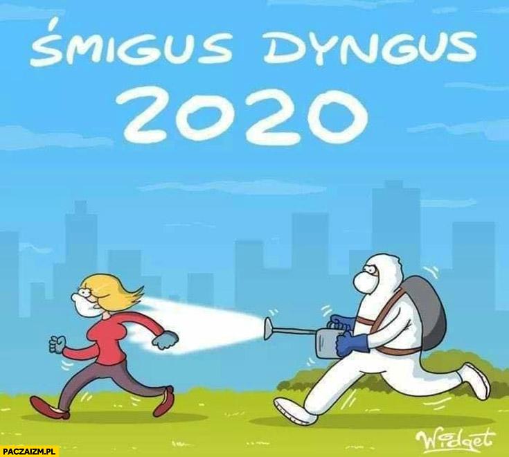 Śmigus dyngus 2020 odkażanie dezynfekcja