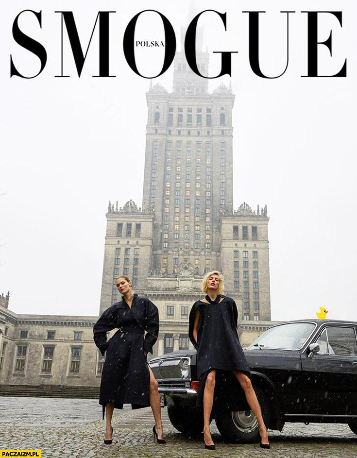 Smogue Vogue okładka przeróbka PKiN pałac kultury smog