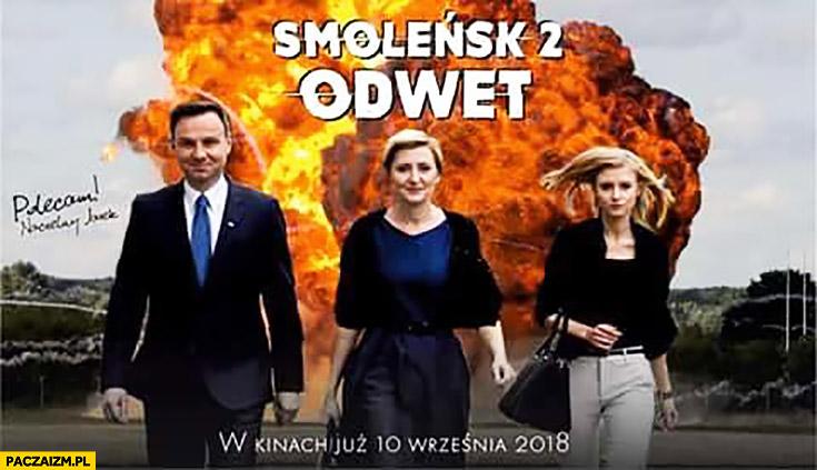 Smoleńsk 2: Odwet. Andrzej Duda wybuch w tle