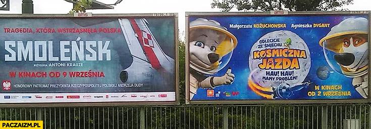 Smoleńsk kosmiczna jazda billboardy