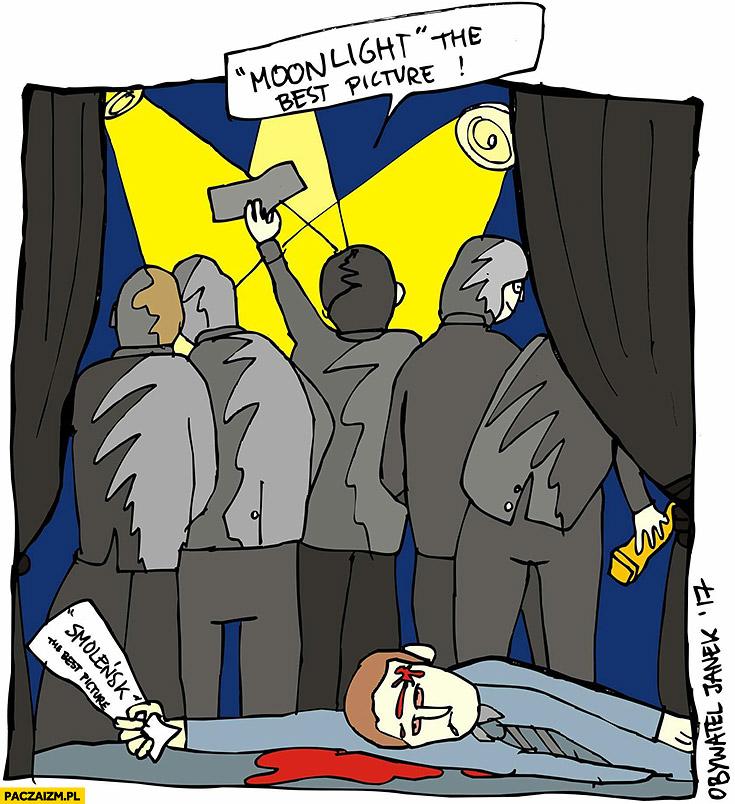 Smoleńsk the best picture zamordowany Moonlight wygrywa Oscara