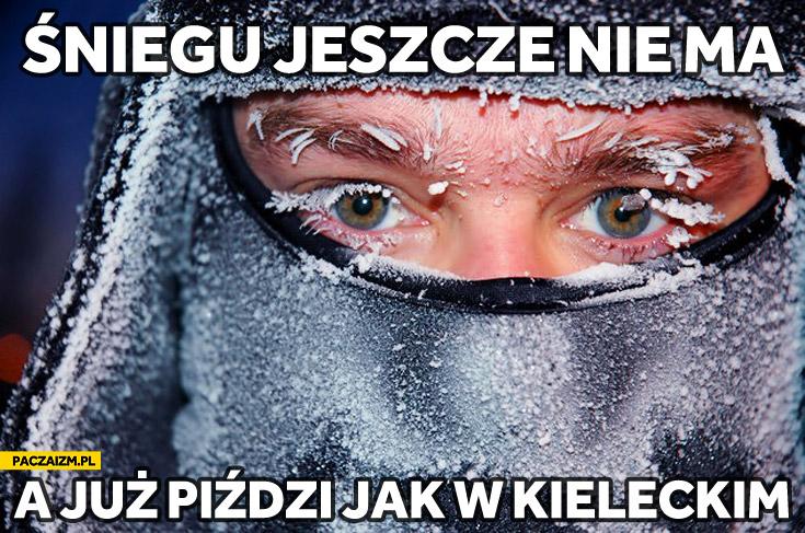 Śniegu jeszcze nie ma a już piździ jak w Kieleckim