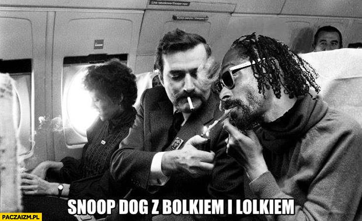 Snoop Dogg z Bolkiem i Lolkiem Lech Wałęsa joint