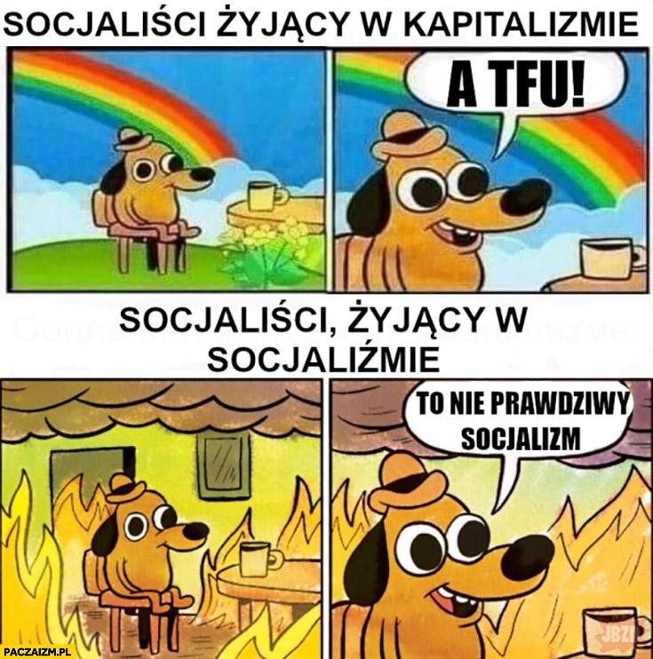 Socjaliści żyjący w kapitalizmie a tfu vs socjaliści żyjący w socjalizmie pożar to nie prawdziwy socjalizm