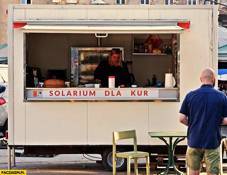 Solarium dla kur napis kurczak z rożna foodtruck bar knajpa restauracja
