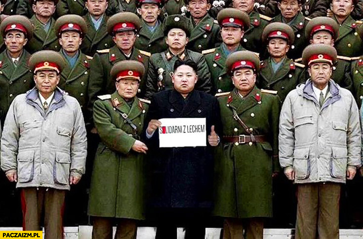 Solidarni z Lechem Korea Północna Kim Jong Un generałowie Wałęsa Bolek