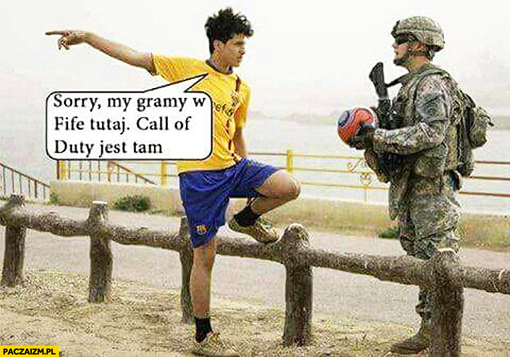 Sorry my gramy w FIFĘ tutaj, Call of Duty jest tam żołnierz piłkarz