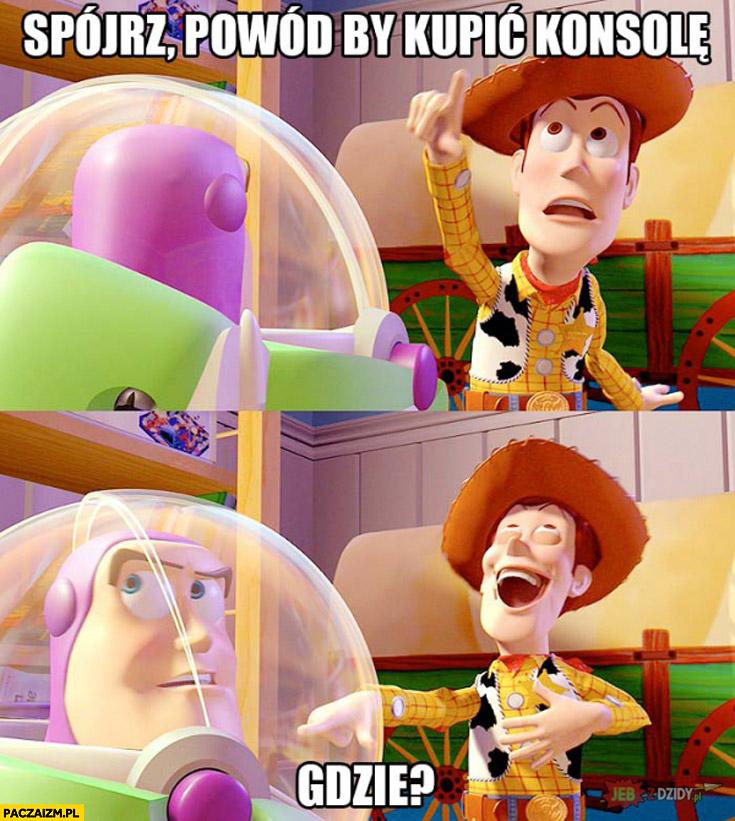 Spójrz powód by kupić konsolę gdzie Toy Story