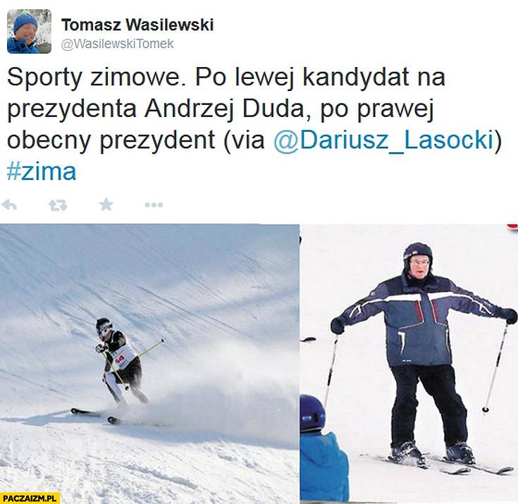 Sporty zimowe narty Duda Komorowski