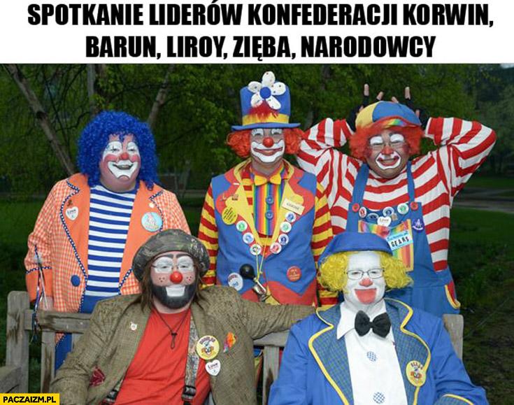 Spotkanie liderów konfederacji Korwin Braun Liroy Zięba Narodowcy klauni