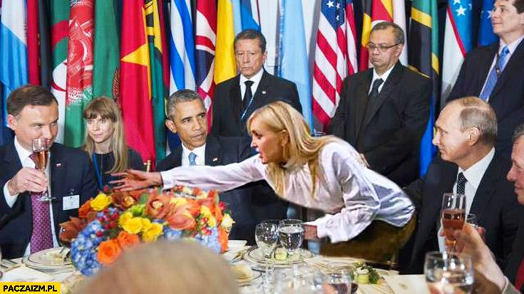 Spotkanie ONZ drinki prezydenci Monika Olejnik chytra baba