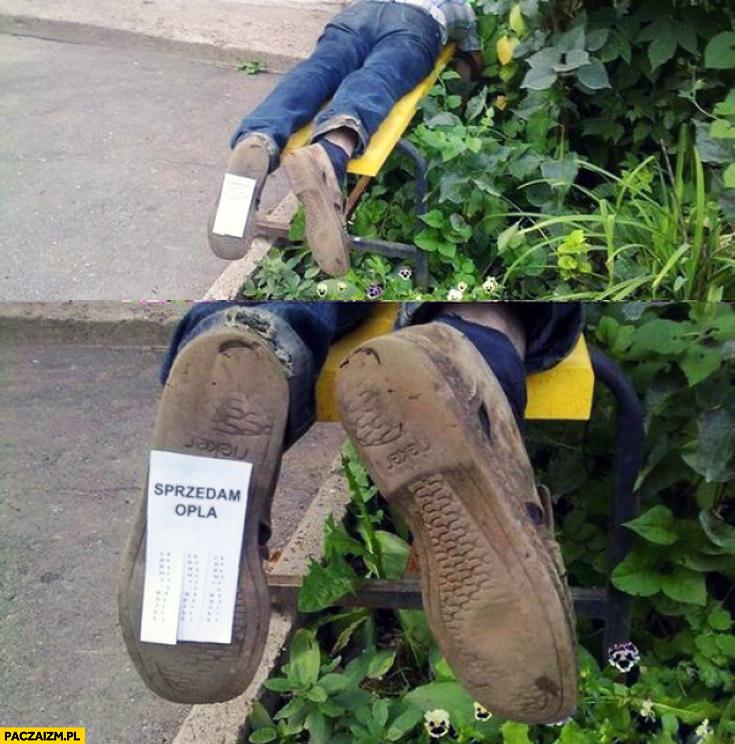 Sprzedam Opla ogłoszenie na podeszwie buta