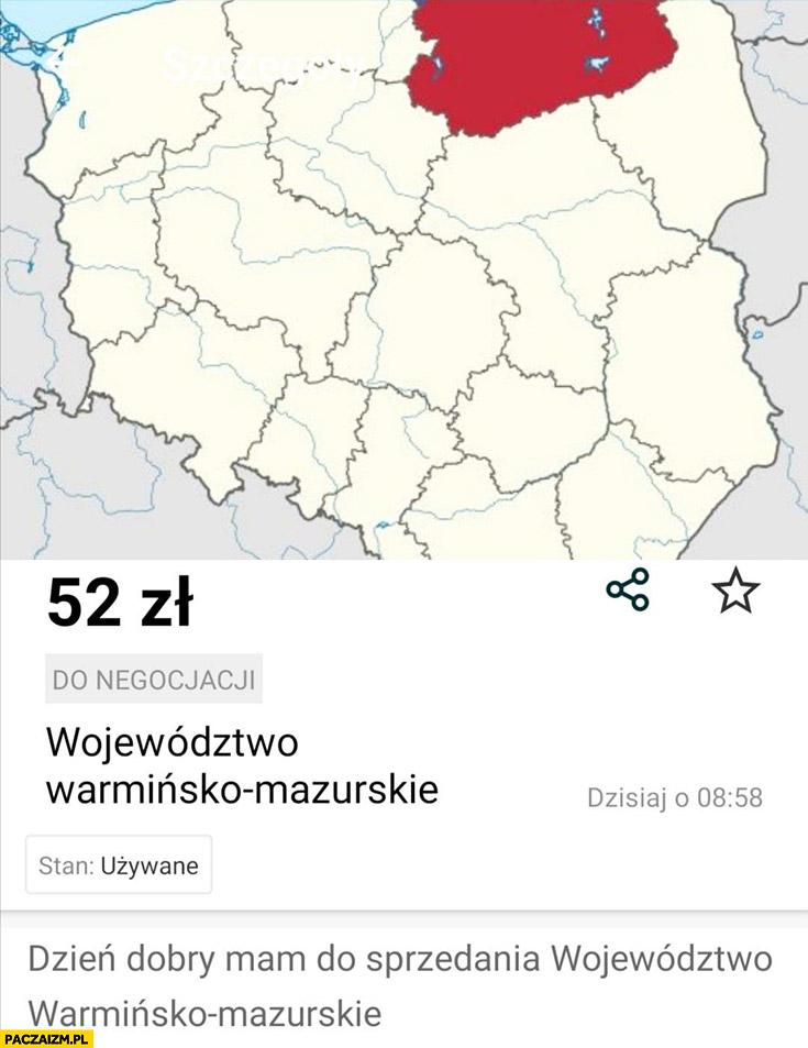 Sprzedam województwo warmińsko-mazurskie 52 zł ogłoszenie olx